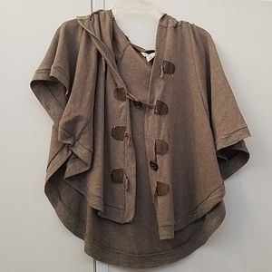 Hooded outer poncho